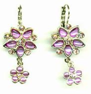 Flower power flower love jewelry trend wholesalers manufacturing purple beaded double flower design fashion earring. To be fashionable is no more easier. Our Online shop offers only high quality unique design jewelry products to satisfy alll your need!